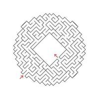 labirinto abstact. jogo para crianças. quebra-cabeça para crianças. enigma do labirinto. ilustração vetorial vetor