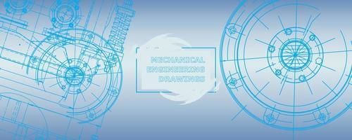 desenhos de fabricação de instrumentos. Engenharia. capa, folheto, banner vetor