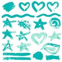 ilustração suja, elementos de decoração, caixas, molduras vetor