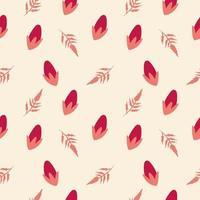design de padrão sem emenda em botão de flor vetor