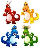 Conjunto de dragão diferente vetor