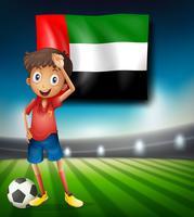 Jogador de futebol nos Emirados Árabes Unidos