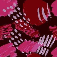 padrão artístico abstrato sem costura com texturas desenhadas à mão na moda vetor