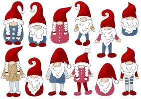 ilustração de natal com gnomos vetor