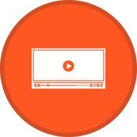 Video Player Glyph Multi cor de fundo vetor