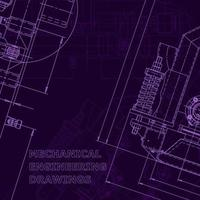 planta, esboço. ilustração em vetor engenharia. capa, folheto, banner