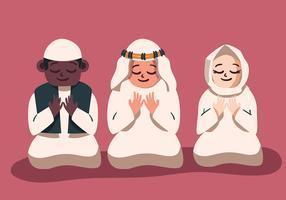 Crianças muçulmanas vetor