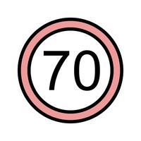 Limite de velocidade do vetor 70 ícone