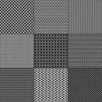 padrões geométricos mod preto e branco vetor