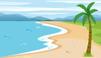 Uma paisagem de praia plana vetor