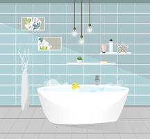Interior do banheiro. Ilustração vetorial vetor