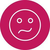 ícone de vetor emoji confuso