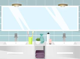 Interior de casa de banho moderna. Ilustração vetorial