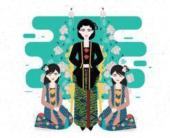 Vetor de Kebaya Kartini Vol 3