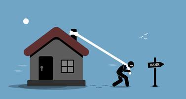 Empréstimo de refinanciamento hipotecário. vetor