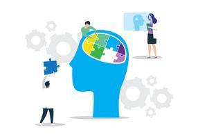 Quebra-cabeça cérebro vetor
