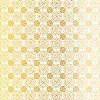 padrão de medalhão circular ornamentado branco ouro vetor