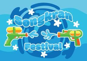 Ilustração Festival Songkran vetor