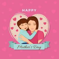 Ilustração em vetor dia das mães