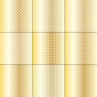 ouro metálico e branco mod padrões geométricos vetor