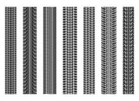 ilustração do projeto do vetor das faixas do pneu isolada no fundo