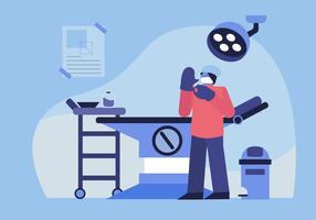 Check-up de saúde pelo médico na ilustração em vetor laboratório clínica