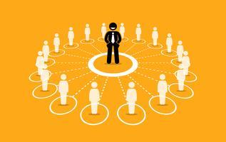 Rede de negócios e comunicação.