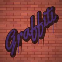 Fundo de arte urbana de parede graffiti vetor