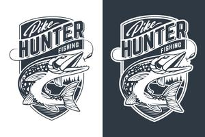 projeto de emblema de vetor de caçador de pique