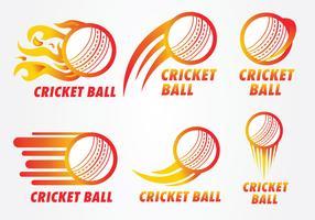 Pacote de vetor de logotipo de bola de críquete