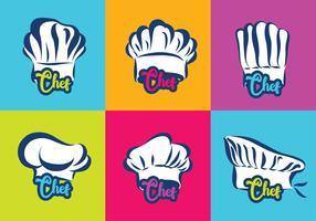 pacote de vetor de logotipo de chapéu de chef