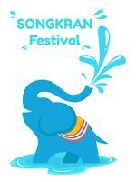 Festival Awesome Songkran vetor