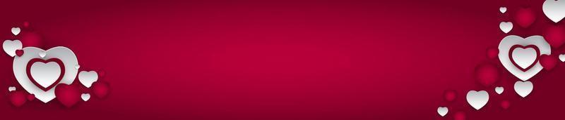 design de plano de fundo do dia dos namorados. modelo para anúncios de publicidade, web, mídia social e moda. cartaz horizontal, folheto, cartão de felicitações, cabeçalho para site de ilustração vetorial eps10 vetor