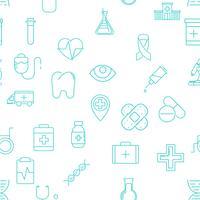 Conjunto de 25 ícones de linha médica vetor