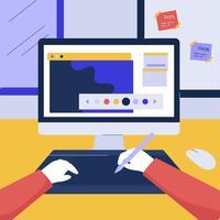 Ilustração em vetor de Design gráfico