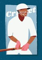 Design de vetor de jogador de críquete