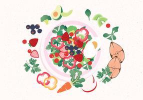 Vetor de comida saudável Vol 2