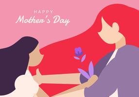 Feliz dia das mães ilustração de fundo vetor