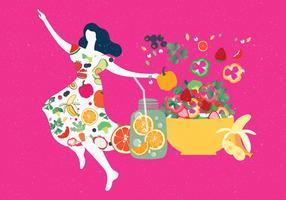 Vetor de comida saudável Vol 3