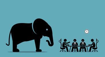 Elefante no quarto.