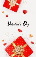 design de plano de fundo de dia dos namorados com lábios e corações realistas ... modelo para anúncios de publicidade, web, mídia social e moda. cartaz, folheto, cartão de felicitações. ilustração vetorial eps10 vetor