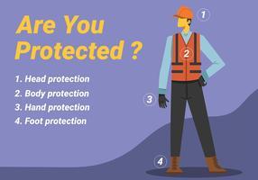 Equipamento de proteção pessoal vetor