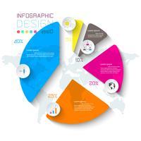 Infográfico de negócios na barra de gráfico. vetor