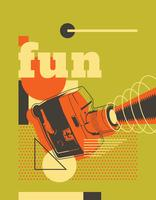 Design retro poster vetor