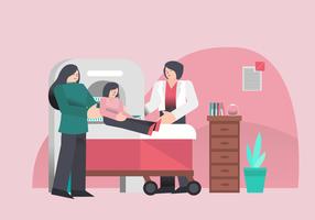 Check-up médico para cuidados de saúde em ilustração vetorial de clínica vetor