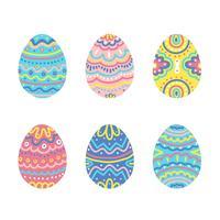 Coleção de ovos de Páscoa coloridos vetor