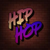 Graffiti Hiphop parede fundo urbano vetor