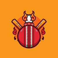 Vetor de bola de críquete