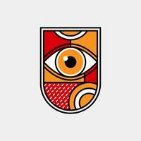 Geométrico de vetor de olho