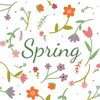 Fundo floral bonito para a temporada de primavera vetor